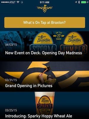 Braxton Brewing Company has launched its app.