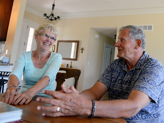 Jim and Jean Klein laugh as they recall the last year