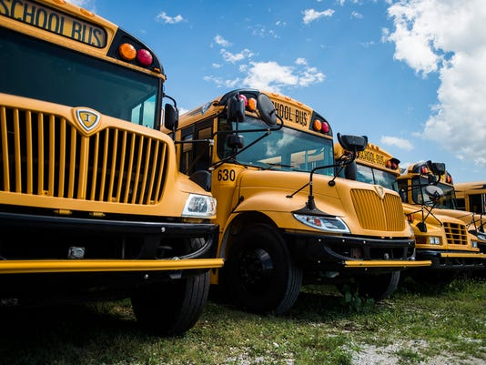 Hanover School District's buses are ready for use.
