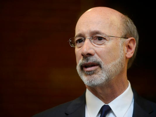 Gov. Tom Wolf tours the Kings Mill Depot at York College Friday, April 10, 2015.