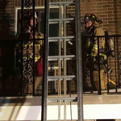 Linden firefighters extinguished a fire Sunday at the