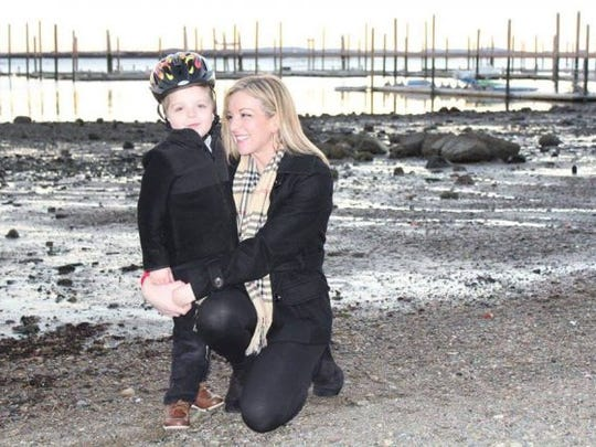 Lindsey with her son, Cameron.