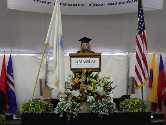 Gaetani gives the commencement address at her school.