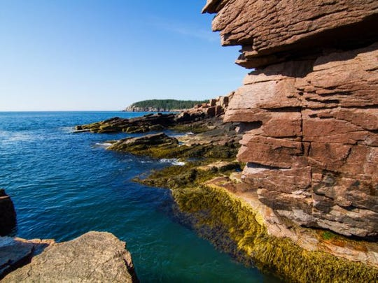 Thunder Hole in Acadia National Park, Maine.