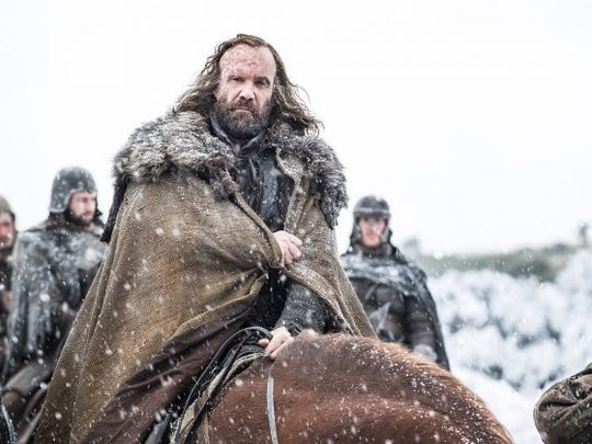 "Rory McCann as Sandor 'The Hound' Clegane on ""Game of Thrones."""