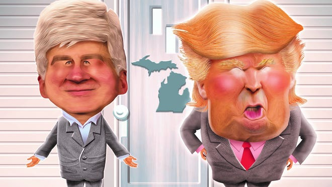 Gov. Rick Snyder and President Donald Trump's views on immigration differ.