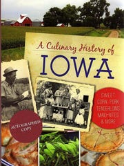 """The cover of """"A Culinary History of Iowa"""" by Darcy"""