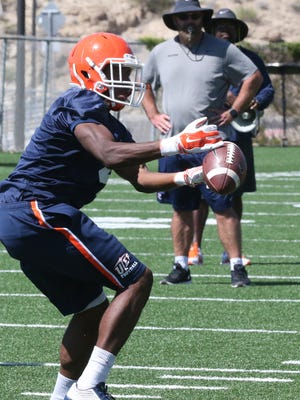 UTEP freshman running back Quadraiz Wadley, 4, is a freshman who might get some playing time.