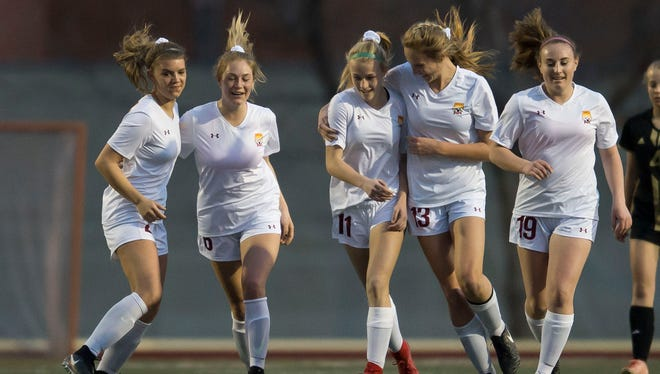 Thursday's girls soccer game between No. 2 Rocky Mountain and No. 3 Broomfield can be seen live at Coloradoan.com.
