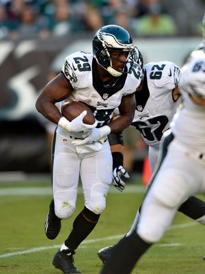 Eagles running back DeMarco Murray sat out last week with a hamstring injury and has gained just 21 yards on 11 carries.
