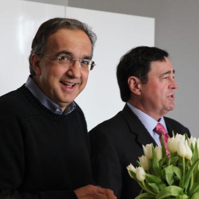 Sergio Marchionne and Carl Galeana at Fiat of Lakeside