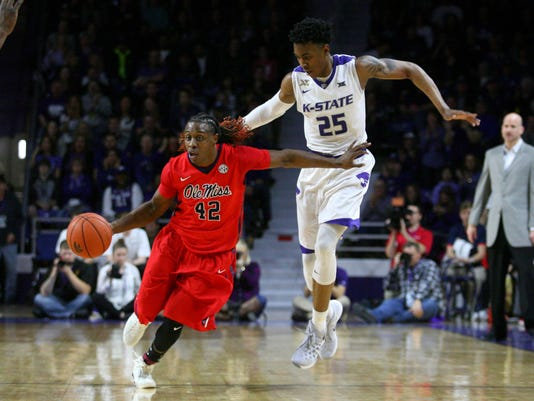 NCAA Basketball: Mississippi at Kansas State