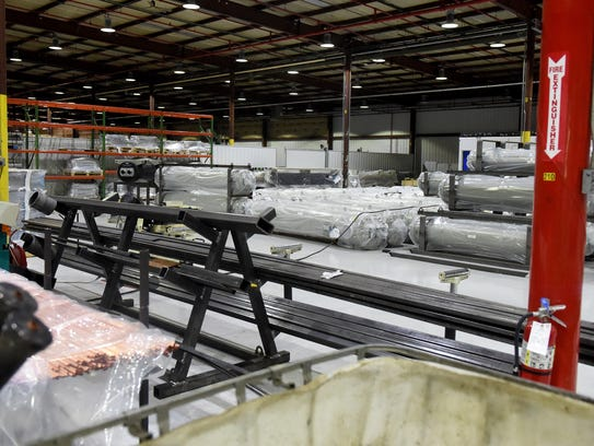 Evaporators already manufactured stored nside Provides