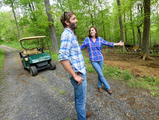 Owners of the farm, Andrew Crummett and his wife, Valerie