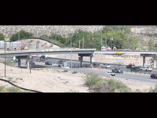 Traffic moves on Interstate 10 beneath the Buena Vista