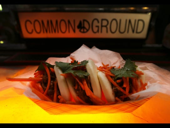 These are Thai pulled pork steamed buns from Honeywood