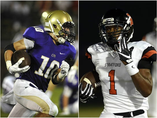 CPA receiver Andrew Howard (left) and Stratford running