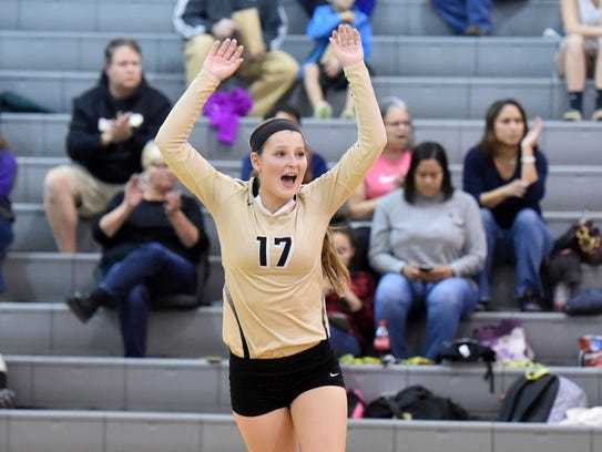 Buffalo Gap's Emily McComas 525 digs as the team's