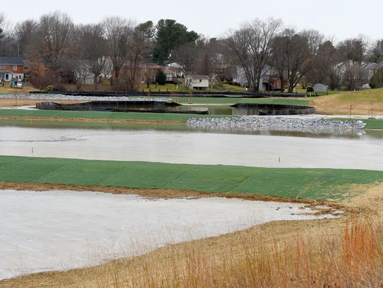 A view of the Jefferson Park constructed wetland.