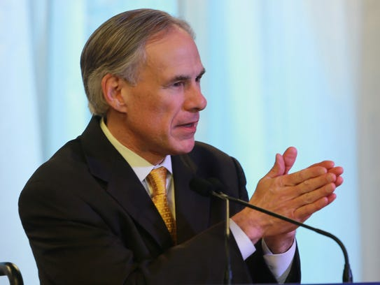 Texas Governor Greg Abbot spoke Saturday at the Blackstone