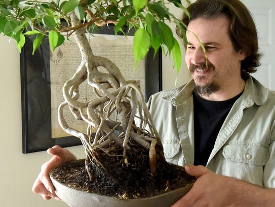 Jarod Kearney talks about one of the bonsai trees he