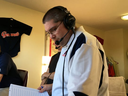 Kris Neil has been the play-by-play announcer for Waynesboro