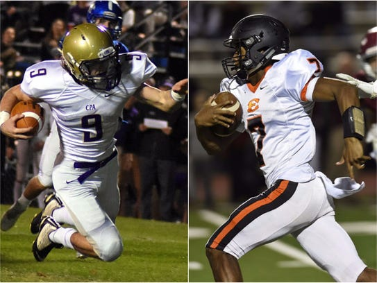 CPA's Sam West (left) and Ensworth's Jaylon King (right)
