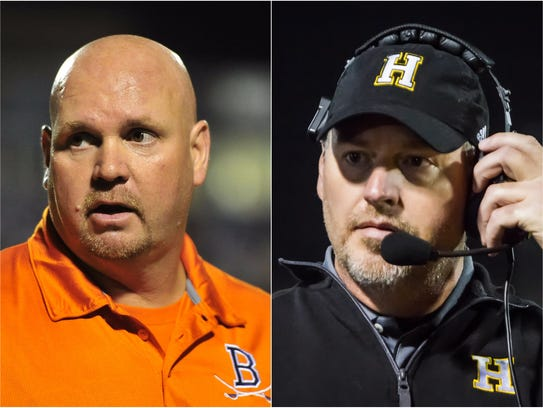 Beech coach Anthony Crabtree (left) and Hendersonville