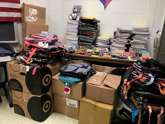Collections for Lee High's Heart of Texas supply drive