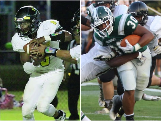 Fairview running back Darius James (left) and Greenbrier