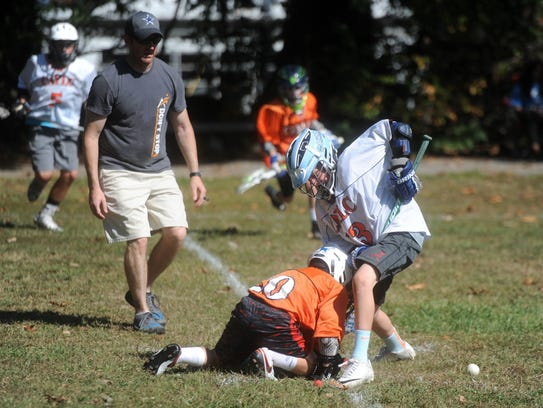 The Wolves Lacrosse competitive team, seen here practicing