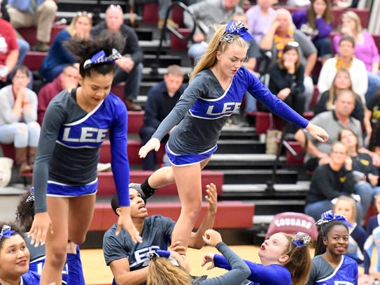 Robert E. Lee's competition cheer team competes in