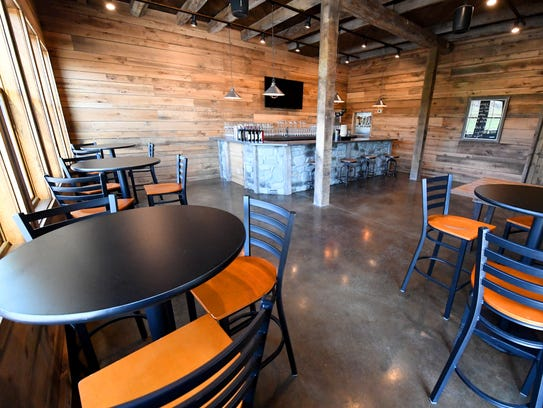 Inside the Taproom in The Granary at Valley Pike Farm