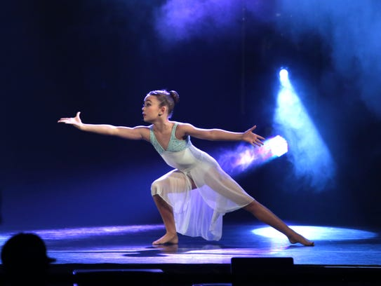 Ava Wease, 10, during her solo performance at the Dancemakers