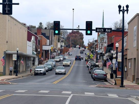 Downtown Waynesboro, Virginia.