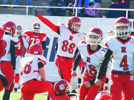 Riverheads' Ridge Stokes signals his thought that it's