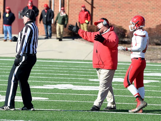 Riverheads head coach Robert Casto voices his displeasure