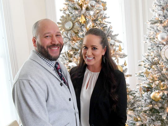 Tony and Amy Davenport are photographed in their Staunton