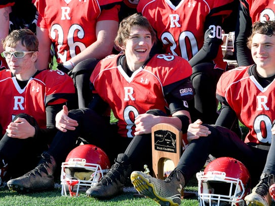 Riverheads' Zac Smiley offers a large smile as he sits