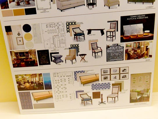 A display board offers information about planned renovations