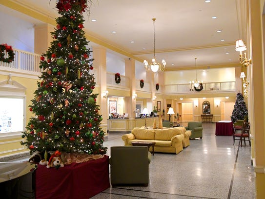The lobby at the Stonewall Jackson Hotel and Conference