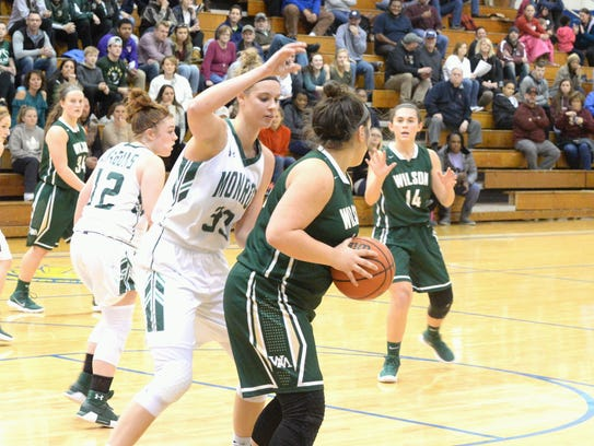 William Monroe junior Samantha Brunelle, the top ranked