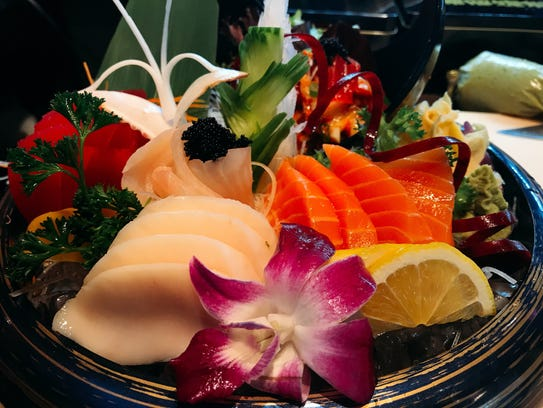 Sashimi at Mojo Thai & Sushi, which opened in January