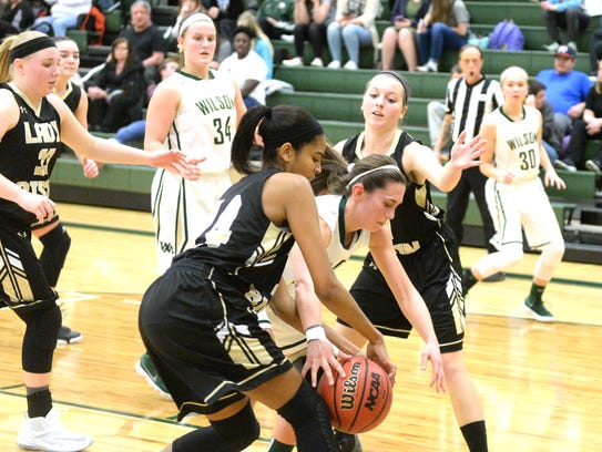 Buffalo Gap's Amaya Lucas and Wilson Memorial's Sam