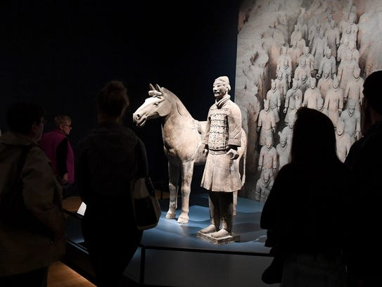 """""""Cavalry Horse"""" and """"Cavalryman"""" are two of the figures"""