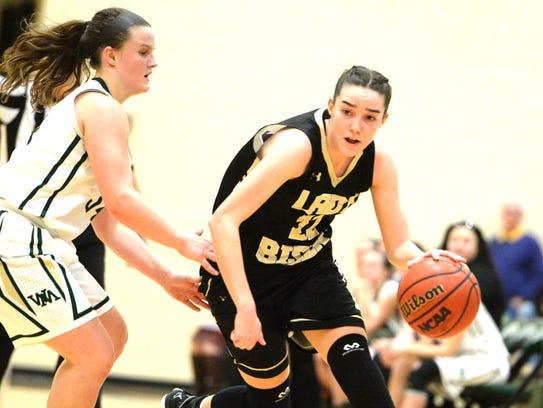 Buffalo Gap's Leah Calhoun, who finished with 15 point