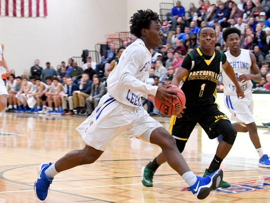 Robert E. Lee's Jahleel Pettiford makes a run for the