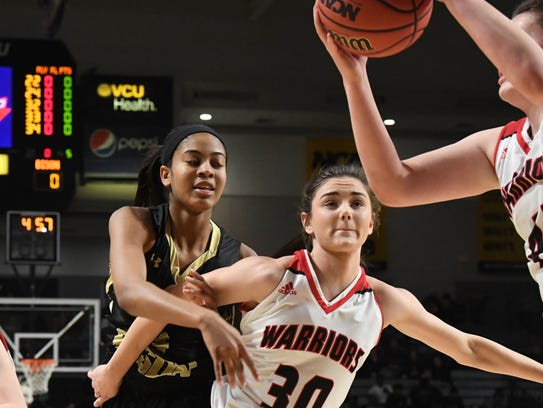 Buffalo Gap's Amaya Lucas tries to reach the ball with