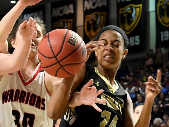 Buffalo Gap's Amaya Lucas battles Central-Wise's Hannah