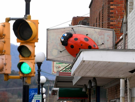 A much larger-than-life ladybug, created by artist